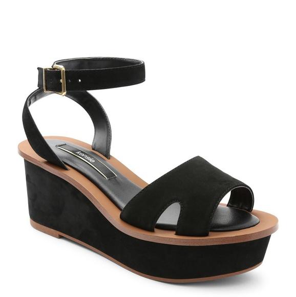 586acf34436c Kensie Shoes - Kensie Black Tray Platform Wedge Size 10